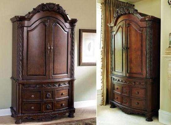 Шкаф 2-х дверный привлекает плавными линиями и изящными формами