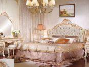 Классическая расписная мебель для спальни Лайма в стиле барокко