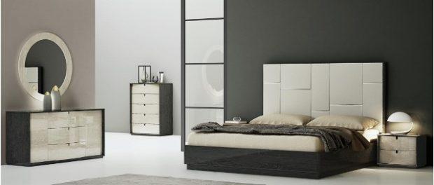 Кровать из МДФ с твердым изголовьем для спальни Мерида